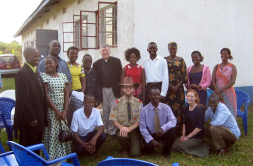 Mission Group in Uganda with Rt. Rev. Kaziimba